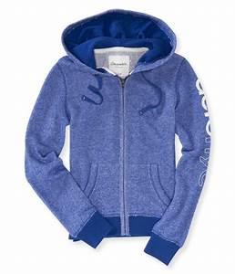 Aeropostale Womens NYC Full Zip Hoodie Sweatshirt | eBay