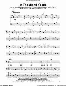 Perri - A Thousand Years sheet music for guitar solo