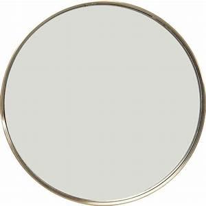 Miroir Rond Laiton : miroir curve rond laiton 60cm kare design ~ Teatrodelosmanantiales.com Idées de Décoration