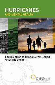 Hurricanes And Mental Health  A Family Guide To Emotional
