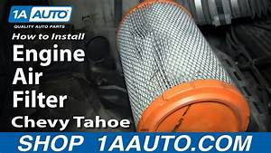 How To Replace Engine Air Filter 96-99 Chevy Tahoe