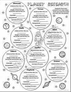 FREE Planet Research Worksheet from Imaginative Teacher on ...