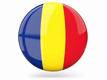 Flag Belgium Romania Barbados Round Icon Glossy