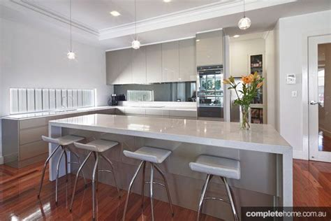super sleek grey kitchen design kitchen floor