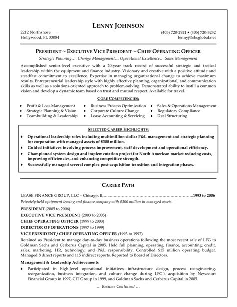 free senior operations executive resume http www