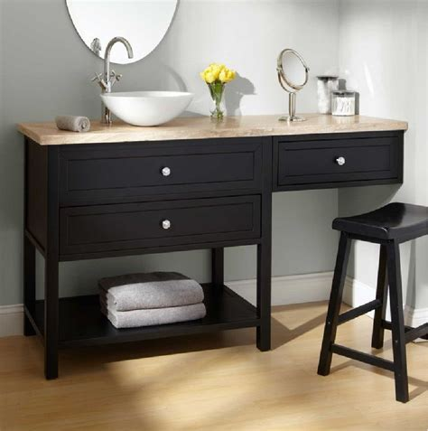 furniture bathroom vanity with makeup table ideas