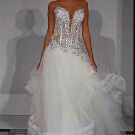 sexy bling corset panina tornai wedding dress