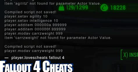 fallout nv console commands fallout 4 codes console commands and hacks
