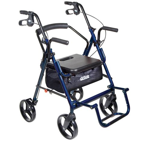 rollator walker transport chair combo transport chair rollator combo
