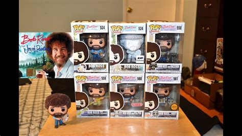 Funko Pop Bob Ross Figure Collection Review & Unboxing