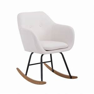 Fauteuil Scandinave Blanc : fauteuil bascule en polyur thane rembourr blanc style scandinave fab10013 d coshop26 ~ Teatrodelosmanantiales.com Idées de Décoration