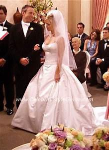 jennie garth wearing reem acra wedding dress jennie With jennie garth wedding dress