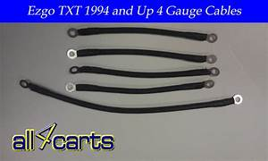 Ezgo Golf Cart Battery Cable Set