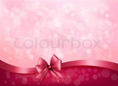 holiday pink background  gift stock vector