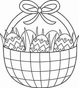 Easter Coloring Basket Clip Egg Pages Bunny Colouring Printable Printables Baskets Sheets Line Spring Sweetclipart Printablecolouringpages sketch template