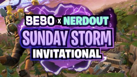 nerdouts fortnite sunday storm rules announced