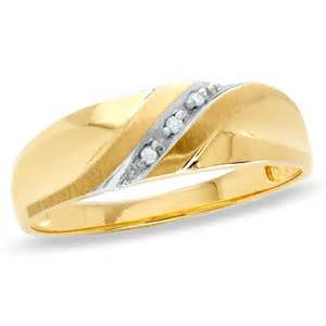 mens 10k gold wedding bands 39 s accent slant wedding band in 10k gold save on select styles zales