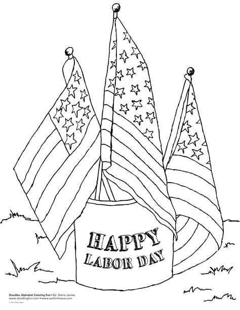 Labor Day Coloring Pages Bestofcoloringcom