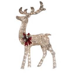 holiday living 52 in lighted vine reindeer outdoor christmas decoration lowe s canada
