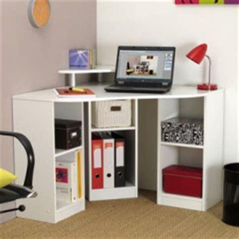 bureau angle petit espace meuble ordinateur conforama