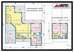 stunning plan de maison de luxe plain pied gallery With logiciel renovation maison gratuit