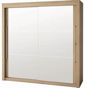 Armoire Hauteur 180 : armoire 2 portes miroirs ch ne clair franka 180 hauteur ~ Edinachiropracticcenter.com Idées de Décoration