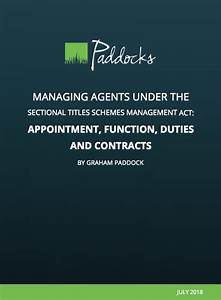 Managing Agents Under The Sectional Titles Schemes