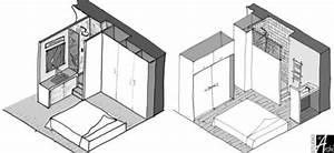 Plan Petite Salle D Eau : mini salle d 39 eau dans une chambre studio 12 m amenagement home bedroom bedroom et small ~ Dallasstarsshop.com Idées de Décoration