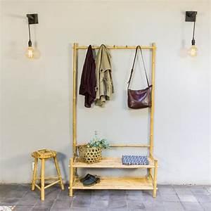 Porte Manteau Entrée : meuble d entr e vestiaire porte manteau en bambou naturel ~ Melissatoandfro.com Idées de Décoration