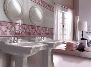 Carrelage salle de bain a motifs design et italiens 25 idees for Salle de bain design avec fil métallique décoratif