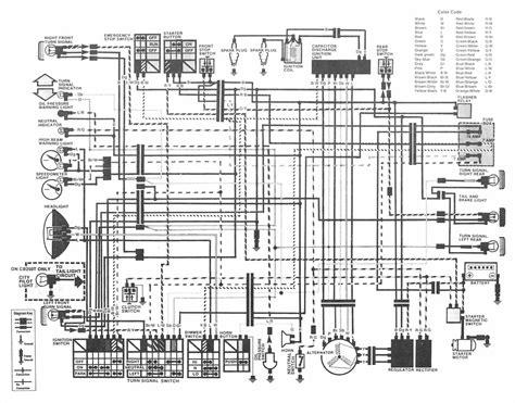 Honda Motorcycle Hawk Wiring Diagram Under