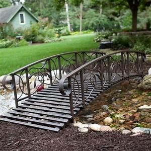 Coral coast willow creek 8 ft metal garden bridge for Metal garden bridge