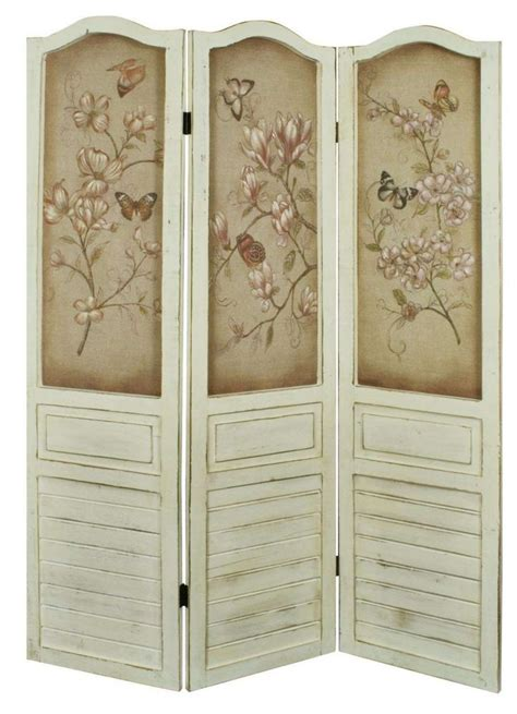 shabby chic room dividers shabby chic floral cream antique decorative wooden room divider screen hfl026 ebay