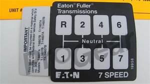 7 Speed Shift Pattern Diagram  Eaton Fuller Transmission P