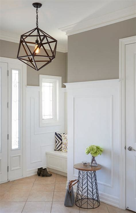 foyer with light taupe paint color transitional