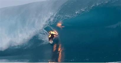 Jamie Brien Surfer Fire Wave Riding Tahiti