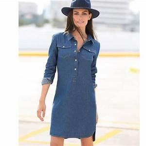 robe chemise en jean femme achat vente robe chemise en With robe en jean pas cher
