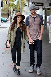 Sarah Hyland and her boyfriend Matt Prokop walked around ...