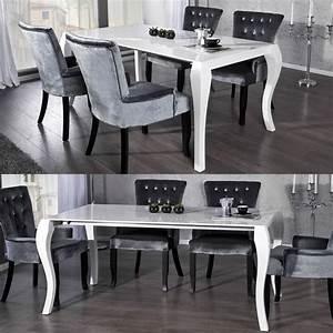 Moderne Barock Möbel : esstisch josephina wei hochglanz 170 200 230cm portofrei kaufen cag design m bel onlineshop ~ Sanjose-hotels-ca.com Haus und Dekorationen