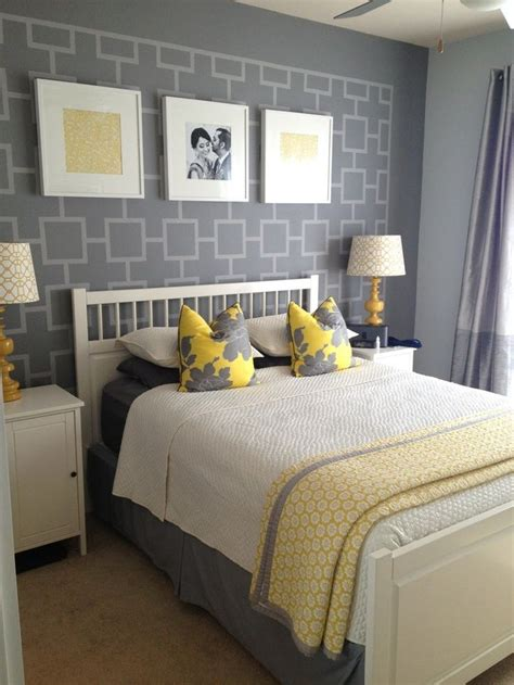 gray  yellow bedroom ideas  shot  grey