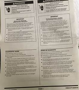 Tech Sheet 8558723 And Wiring Diagram For Whirlpool Duet
