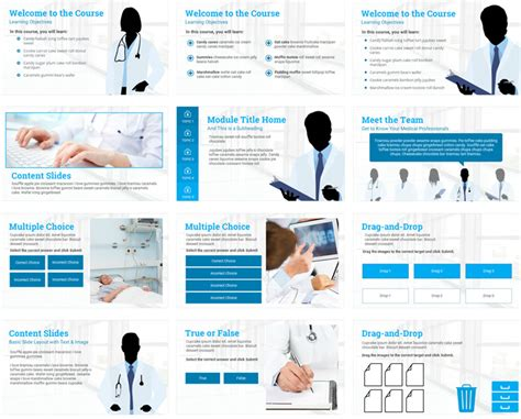 E learning html templates free costumepartyrun medical e learning course starter template e learning maxwellsz