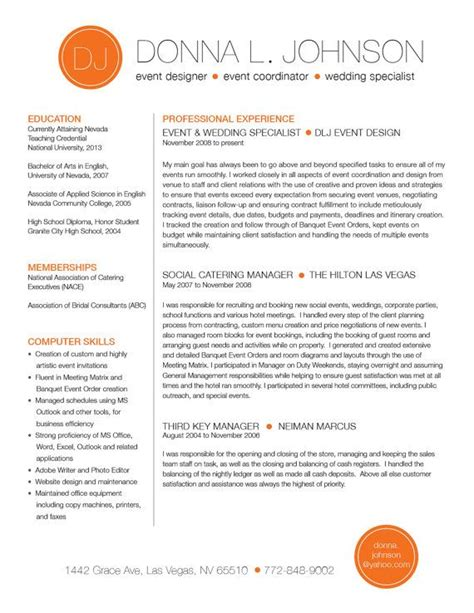 custom resume template color circle initials  rbdesign