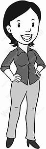 Business Woman Standing With Both Hands On Her Hips ...