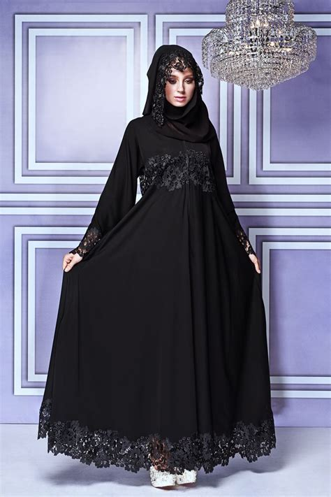 model jubah terbaru fancy lace abaya designs collection 2016 2017 stylesgap