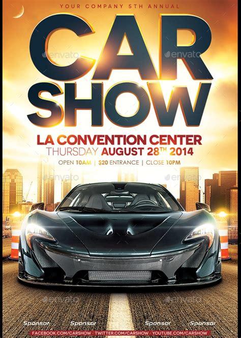 Car Wallpapers Free Psd Flyer by 26 Modern Car Show Flyer Designs Creatives Ai Docs Psd