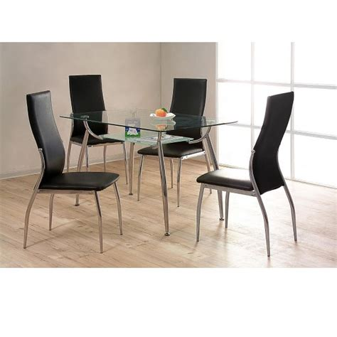 cheap heartlands lazio glass small dining table set 4