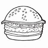Burger Pages Coloring Hamburger Cheeseburger Printable Sheet Template Getcolorings Fries Getcoloringpages King Colorings Cute sketch template