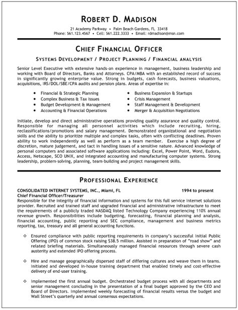 19404 finance resume exles colorful cfo curriculum vitae sle adornment exle