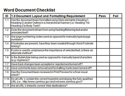 sample blank checklist template  documents